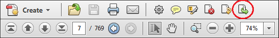 Acrobat Navigation View (Insert Page Button)