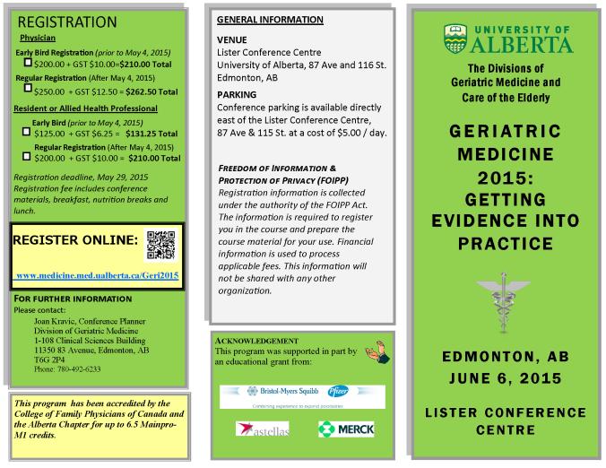 Geriatric Medicine 2015 - Getting Evidence into Practice Brochure_Page_1