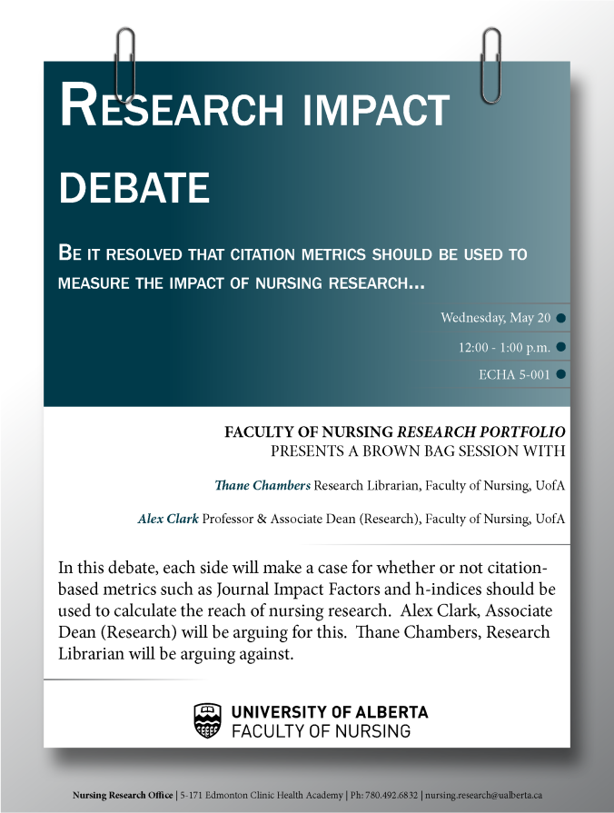 Research Impact Debate 20MAY2015