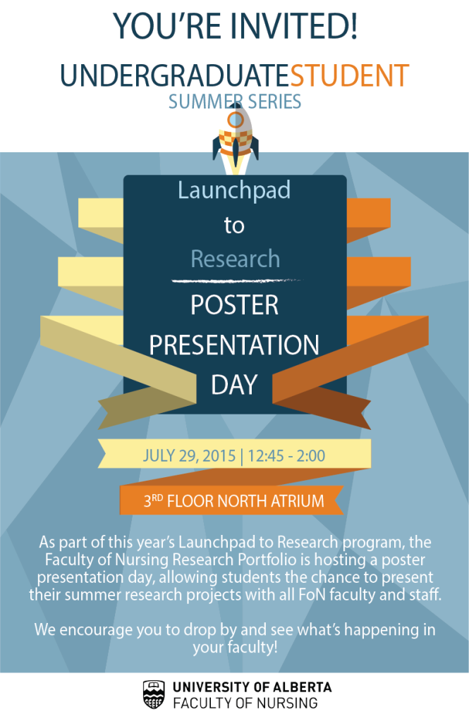 Launchpad Poster Presentation Day Invitation