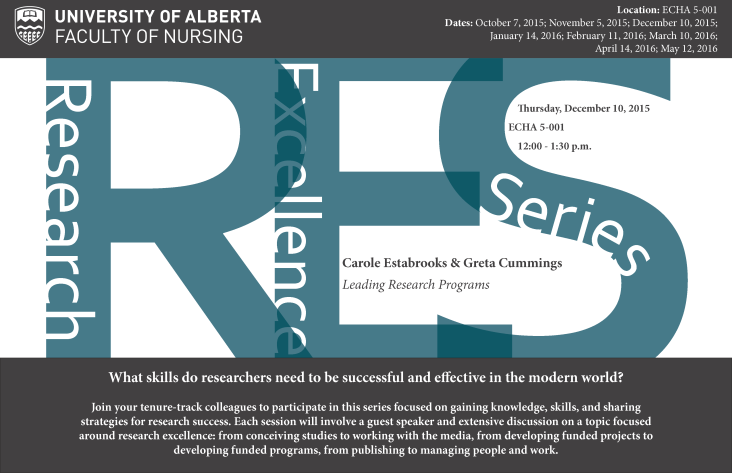 Research Excellence Series Poster - December