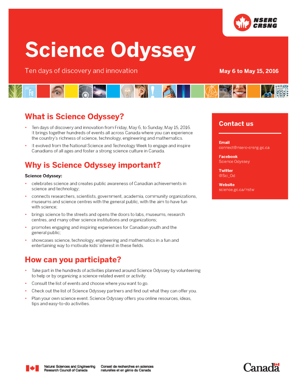 Science Odyssey - Backgrounder