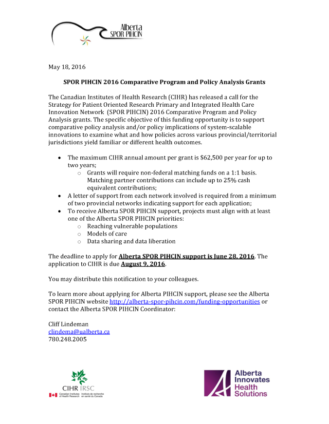 SPOR PIHCIN 2016 Comparative Program and Policy Analysis Grants.png